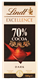 Picture of LINDT 70% COCOA DARK CHOCOLATE 100g